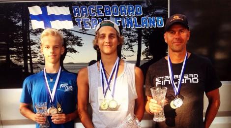 Tulokset 2. päivän jälkeen: Raceboard-luokan SM 2015